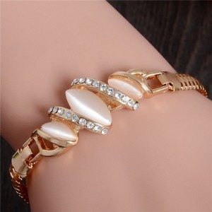 Diamonds Bracelet sea Shells and Gold