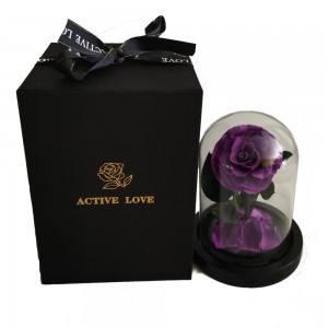 Eternal Rose Flower Purple Bellissima campanella premium e confezione regalo