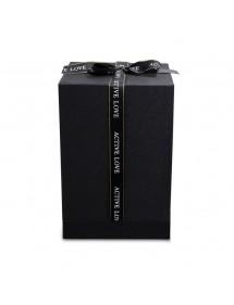 Boîte Cadeau pour Fleur Rose Éternelle Véritable Premium Cloche