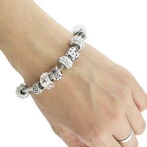 Bracelet de Charms Pierres D'Iceberg Argent_Blanc