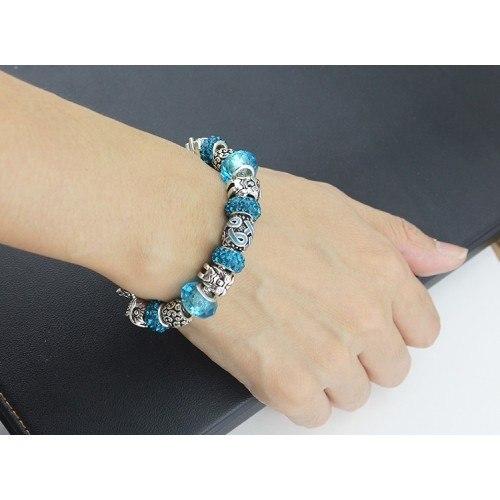 Bracelet de Charms Pierres De Glace Argent_Bleu