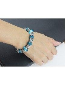 Bracelet Charms Stones Of Ice Argent_Bleu