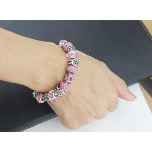 Bracelet de Charms Pierres De Rose Argent_Rose