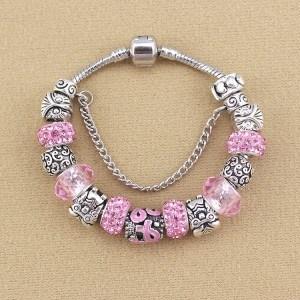 Bracelet Charms Stones Of Pink Argent_Rose 2