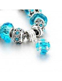 Bracelet Charms BlueBall Adjustable Argent_Bleu 3