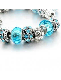 Bracciale Charms BlueBall Regolabile Argent_Bleu 2