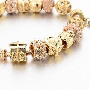 Bracelet Charms GoldHeart Adjustable Heart Gold 3