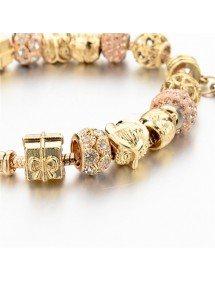 Bracelet de Charms GoldHeart Réglable Coeur Or 3