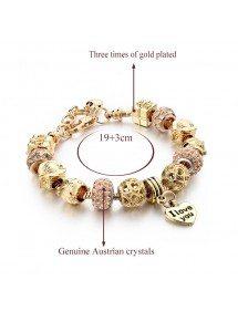 Bracelet de Charms GoldHeart Réglable Coeur Or 4