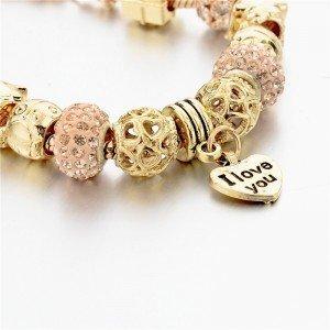 Bracelet de Charms GoldHeart Réglable Coeur Or 2