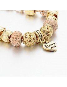 Bracelet Charms GoldHeart Adjustable Heart Gold 2