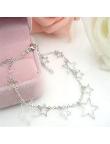 Chain Ankle Silver Star 2