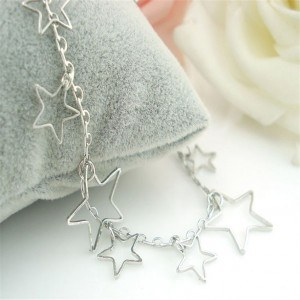 Chain Ankle Silver Star 3