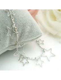 Catena Alla Caviglia Silver Star 3