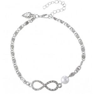 Chaine de Cheville - Infini Luxe - Blanc_Argent