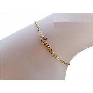 Chaine de Cheville - Love - Or