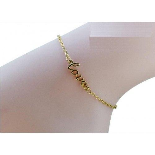 La cadena de Tobillo - Amor - de Oro