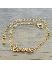 Chain-of-Ankle - Love - Gold 2