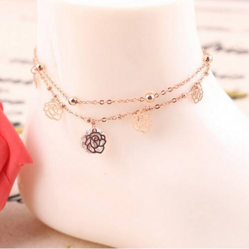 Chain-of-Ankle - Pink - Gold
