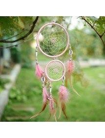 Традиционен розов ловец на сънища