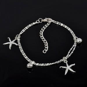 La cadena de Tobillo - estrella de mar - Plata 2