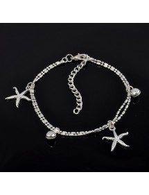 Chain of Ankle - starfish - Silver 2