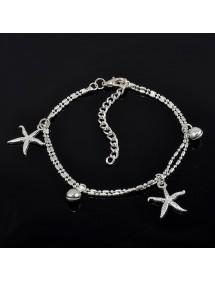 Chaine de Cheville - Étoiles de Mer - Argent 2