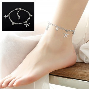 Chain of Ankle - starfish - Silver