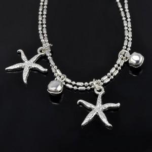 Catena della Caviglia - starfish - Argento 3