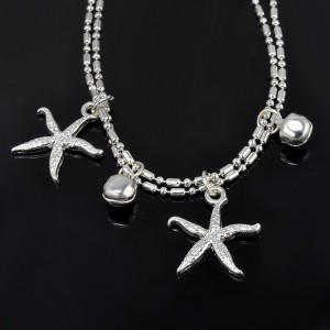 Chain of Ankle - starfish - Silver 3