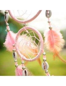 Apanhador de sonhos 3 cor-de-rosa tradicional