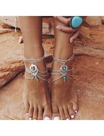 Chain Ankle Chain Bohemia - Silver 2