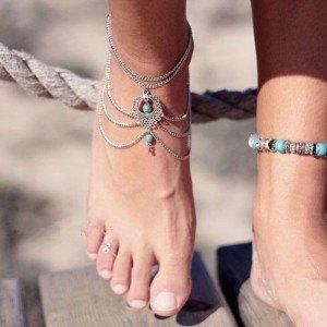 Chain Ankle Chain Bohemia - Silver