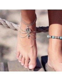 Kæden Ankel Kæde Bøhmen - Sølv