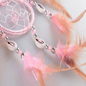 Traditioneller rosa Traumfänger 5