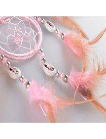 Традиционен розов ловец на сънища 5