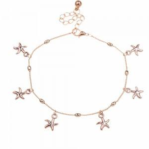 Chain of Ankle - Sea Star - Gold 2