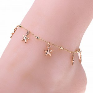 Chain of Ankle - Sea Star - Gold
