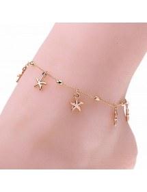 La cadena de Tobillo - Estrella de Mar de Oro