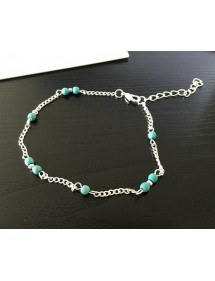Chain of Ankle - Blue Beads - Silver/Blue 3