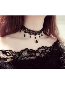 Necklace - Gothic - Ras Kick - Black 3