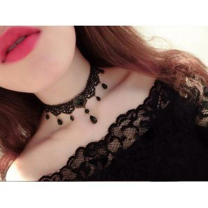 Necklace - Gothic - Ras Kick - Black 4