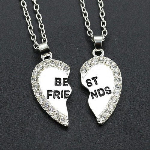 Collier - Best Friends - Meilleures Amies - Argent