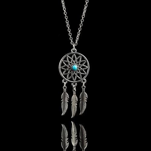 Halskette - Packt-Traum - Silber/Blau