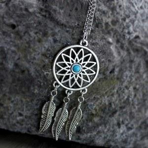 Halskette - Packt-Traum - Silber/Blau 2