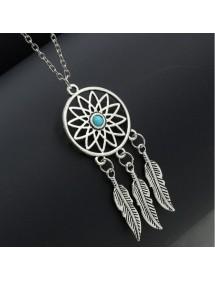 Halskette - Packt-Traum - Silber/Blau-4