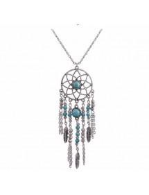 Halskette - Packt-Traum Bohème - Silber/Blau
