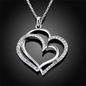 Colar - Grandes Corazóns - Prata