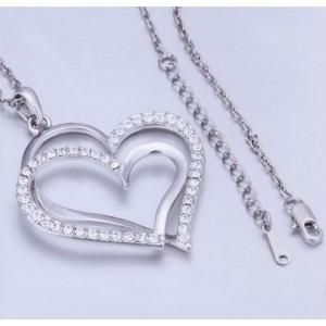 Collar De Corazón Grande - Plata 3