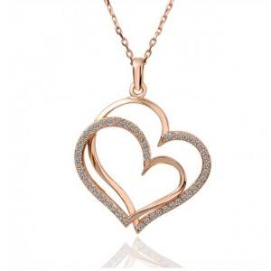 Necklace - Big Hearts - Gold 2